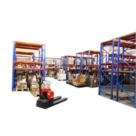 大型倉庫  貨架 廣東貨架廠 桔紅色橫樑貨架