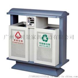 垃圾桶 广州时景户外环保钢铝垃圾桶