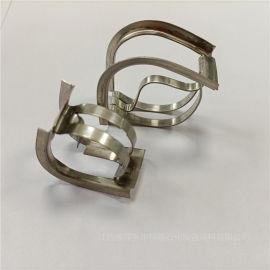 洗涤塔不锈钢304带齿矩鞍环金属DN50鞍形环填料