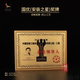 中国安装协会安装之星国优奖牌 定制内容