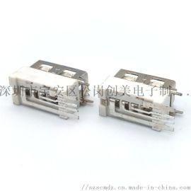 侧插大电流USB母座10.0短体