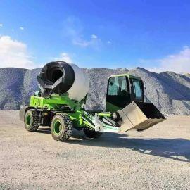 移动混凝土搅拌运输车 自上料搅拌车 水泥搅拌运输车