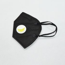 东莞KN95工业四层折叠黑色带阀防尘口罩