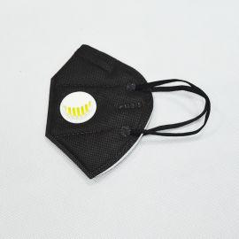 東莞KN95工業四層摺疊黑色帶閥防塵口罩