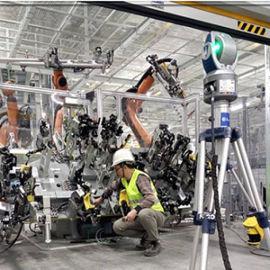 徠卡鐳射跟蹤儀,鐳射跟蹤儀測量大型產線調整