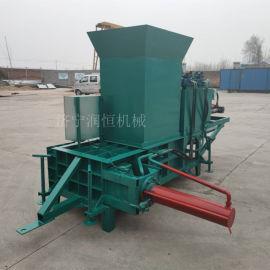 仙桃市青贮牛羊饲草打包机  玉米秸秆方捆压块机