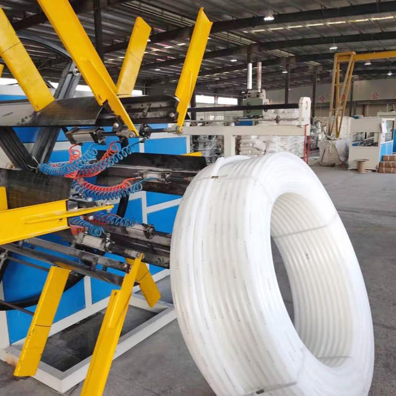 供应全自动管材双盘收卷机 pe管材双盘收卷机