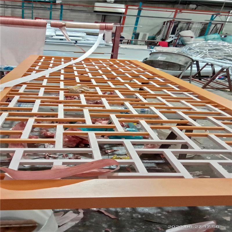 蘇州仿木紋鋁花格窗欞 復古鋁合金窗花圖片