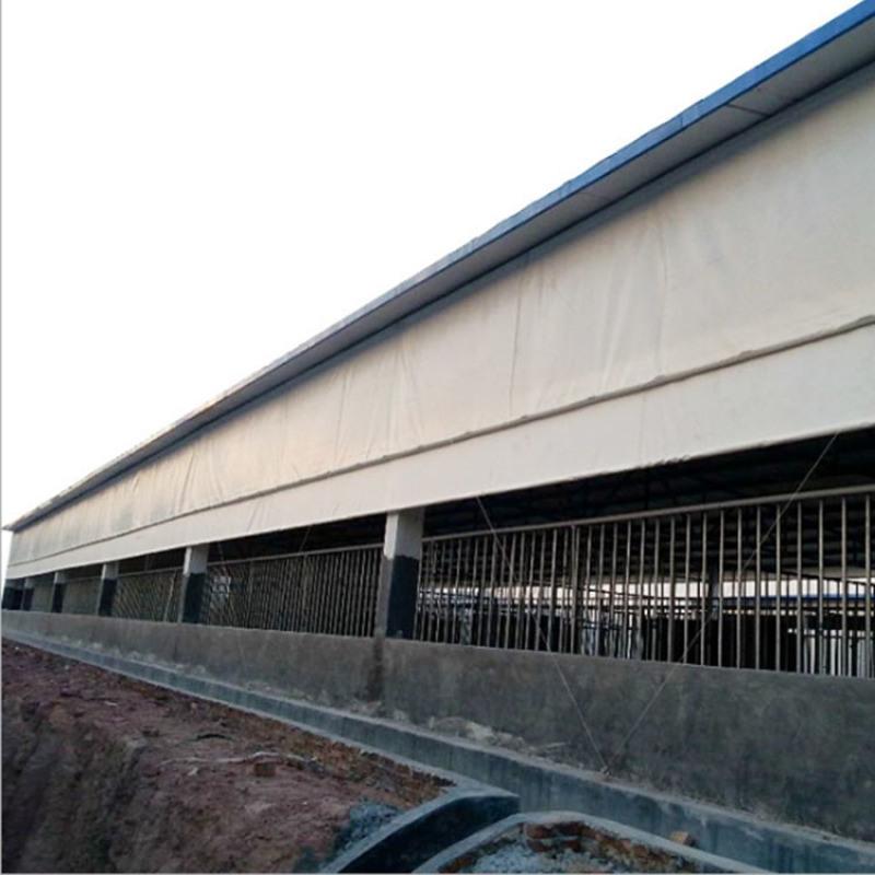 防寒保暖猪场卷帘安装方法 养殖场猪舍猪场专用卷帘布