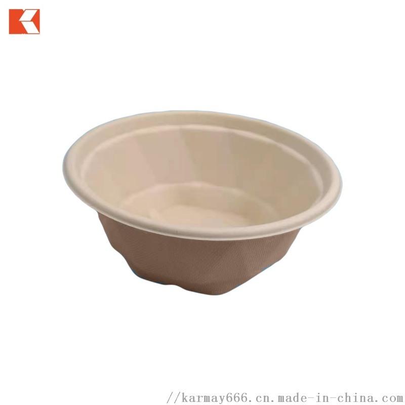 一次性可降解甘蔗浆850ml棱形圆碗