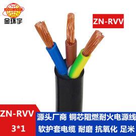 金环宇电缆阻燃耐火电缆ZN-RVV3X1平方