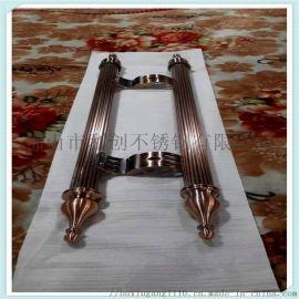 不锈钢玫瑰金拉手 不锈钢菜板拉手3