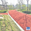 紅色透水混凝土 材料銷售 工程施工
