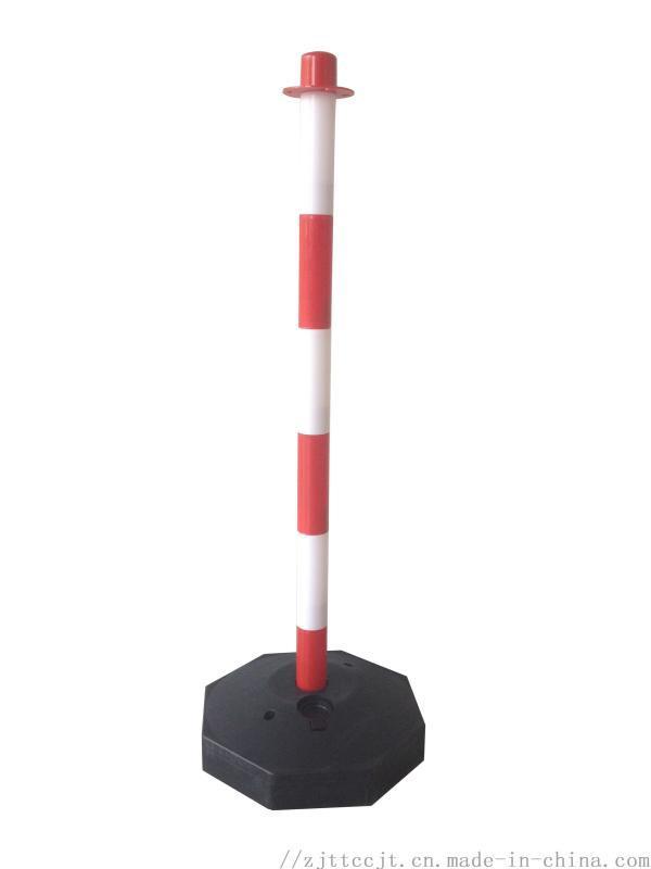 PE警示柱高弹性道口标柱诱导柱塑料反光柱 75装沙