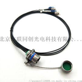 J599系列4芯光纤快速连接器 防盲插 防错插 防水多芯光纤连接器