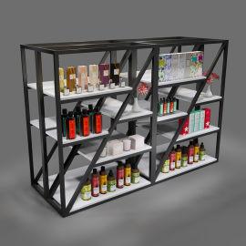 厂家定制饰品货架 钢木展示货架超市环保免漆板货架饰品店展示架