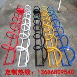 螺旋式自行车户外停车架电动车锁架非车机动车摆放架