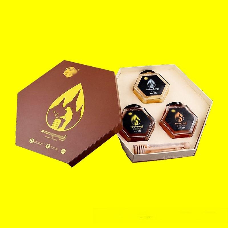 槐花蜜禮品盒設計印刷 鄭州石榴花蜜包裝定製