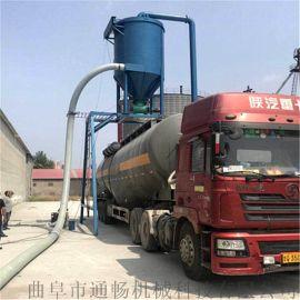 灰料装车设备输灰装罐车龙门架吸料机气力粉末输送机
