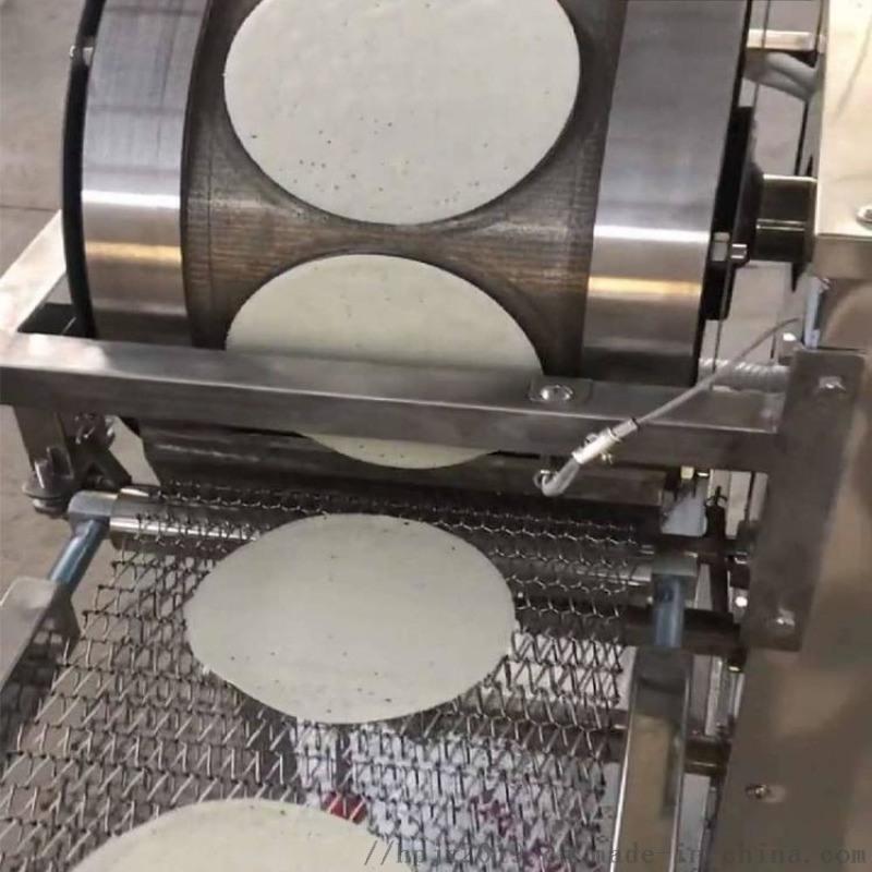 高产量面皮机  连续式春卷皮设备 全自动烤鸭饼机