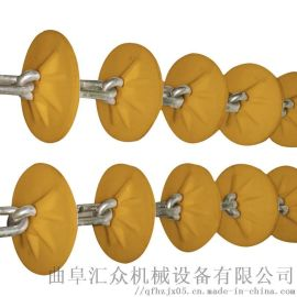 管道粉体输送设备 密封管链输送机链板 Ljxy 盘