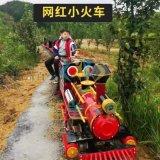 骑乘式轨道小火车网红小火车作为网红小镇接待员人气高