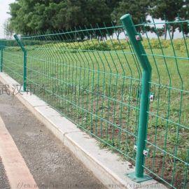 护栏网厂家 武汉护栏网 绿色包塑铁丝护栏网