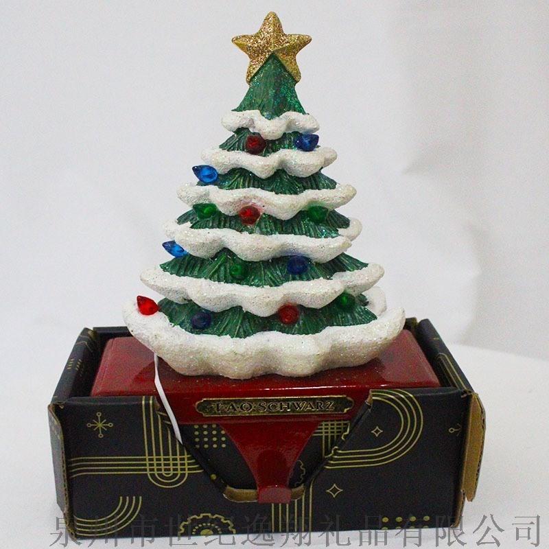 厂家直销圣诞礼品树脂圣诞树摆件