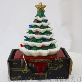 廠家直銷聖誕禮品樹脂聖誕樹擺件