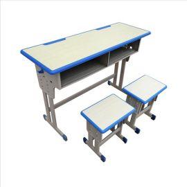**家具公司专业低价批发课桌椅学校单人双人课桌
