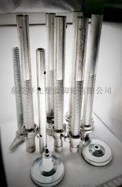 6寸8寸脚手架轮 铝合金调节管可调脚