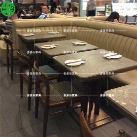 餐饮店木制桌子 餐厅用的餐桌定做 餐厅桌椅定做