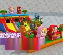 嘉裕市儿童充气大滑梯 充气城堡