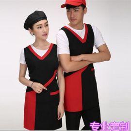 韩版时尚厅    店服务员工作服广告围裙定制绣字印字logo定做