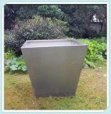 批发园林绿化花盆花箱不锈钢异形组合花盆加工定制钛金圆桶花盆