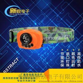 款CREE头灯 野外应急LED强光感应头灯 AAA电池铝合金头灯厂家