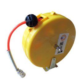 全封闭式迷你型自动回收气管卷盘 伸缩型卷管器 空气管卷轴气鼓