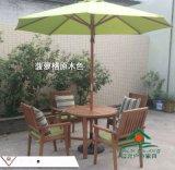 菠萝格桌椅 花园遮阳伞带桌椅