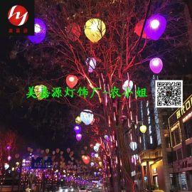 LED桃子造型灯 春节灯杆亮化 过街灯