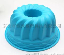 8.5寸硅胶蛋糕模具 戚风蛋糕盘 中空螺旋蛋糕模