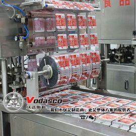 全自动盒装鸭血灌装封口机 血豆腐生产线