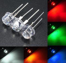 致赢LED发光二极管5MM草帽白灯9-10LM