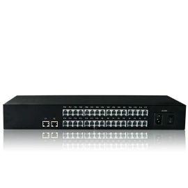 32路32门电话加1路网络光端机 光电转换PCM语音对讲转光纤 一台