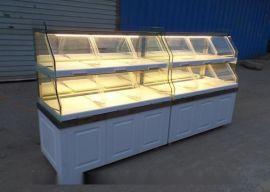 |面包柜台展示柜图片||新款欧式面包展示柜||面包展示架|