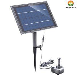 带蓄电池LED灯太阳能喷泉假山水池鱼缸太阳能潜水泵10V太阳能花洒