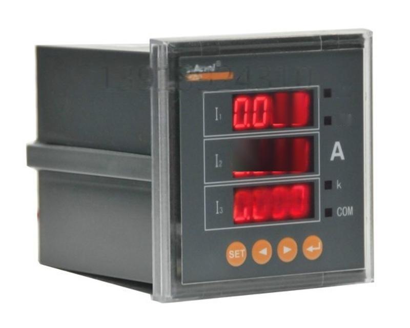 安科瑞三相電流表PZ80-AI3/JC 帶繼電器報警