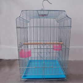厂家批发大号电镀加粗镀锌八哥鹩哥大鹦鹉鸟笼 出口木棍鸟笼H803