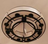 山東東營燈具廠家  新中式風格裝修客廳 全銅現代中式吸頂燈
