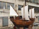 室外广场酒店餐饮仿旧海盗装饰木船景观船帆船