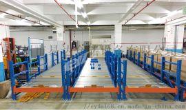 易达广州货架厂重力式货架重型仓库货架辊轮式置物架